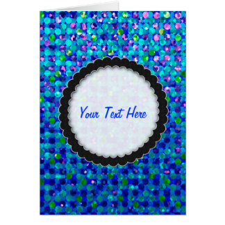 Greeting Card Polka Dot Sparkley Jewels