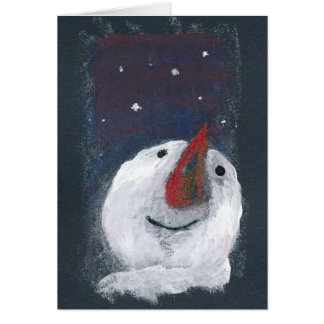 Greeting Card Reflective Snowman