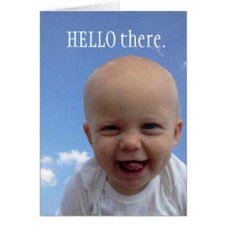Greeting Card to say hello
