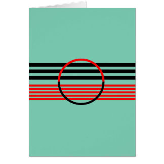 Greeting Card with Art Deco Style
