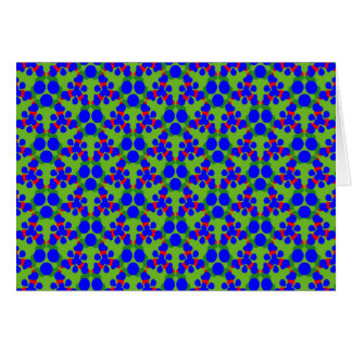 Greeting Card with Blue Red and Green Geometrics