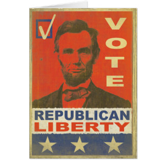 Greeting Card with Republican 2016 Election Print