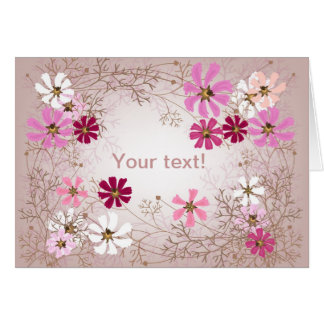 Greeting card with tender floral background.