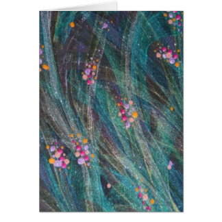 """Greeting Cards - """"Colored Bubbles On Seaweed"""""""