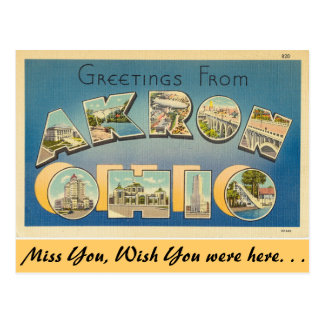Greetings from Akron Postcard