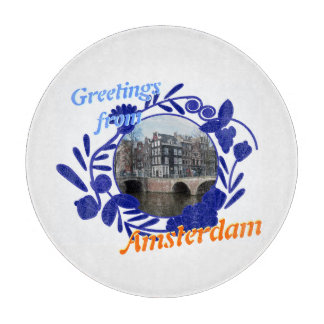 Greetings from Amsterdam Vintage Delft Blue Style Cutting Boards