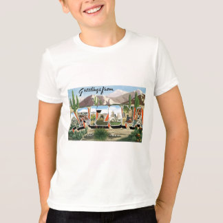 Greetings from Arizona! Retro Catcus Desert T-Shirt