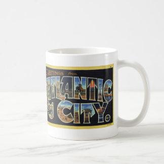 Greetings from Atlantic City Vintage Postcard Mug