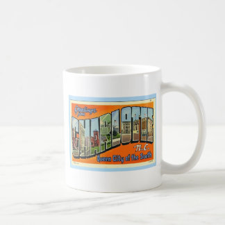 Greetings From Charlotte N.C. , Vintage Coffee Mug