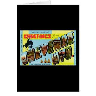 Greetings from Cheyenne Wyoming Card