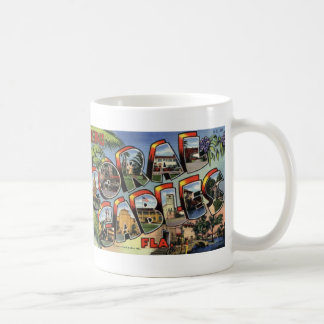 Greetings from Coral Gables Vintage Postcard Mug