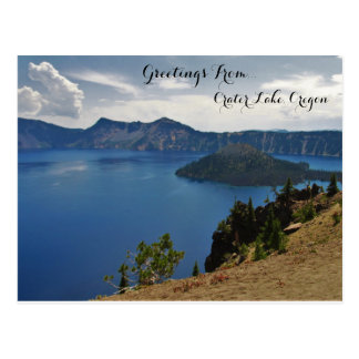 Greetings From Crater Lake Postcard