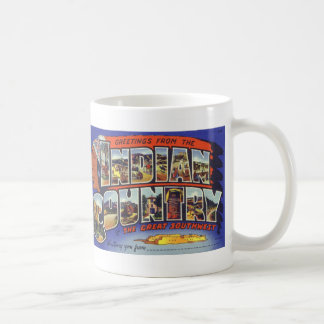Greetings from Indian Country Postcard Mug Vers. 2