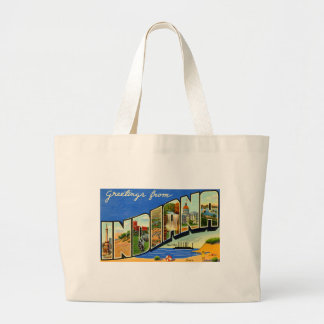 Greetings From Indiana Large Tote Bag