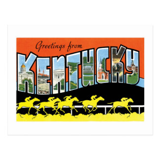 Greetings from Kentucky Vintage Post Card