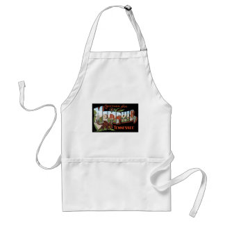 Greetings from Memphis, Tennessee! Retro Post Card Standard Apron