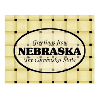 Greetings from Nebraska Postcard