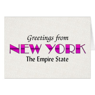 Greetings from New York Card