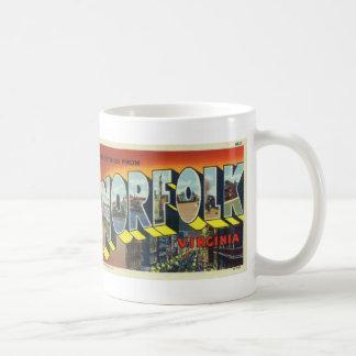 Greetings from Norfolk Vintage Postcard Coffee Mug