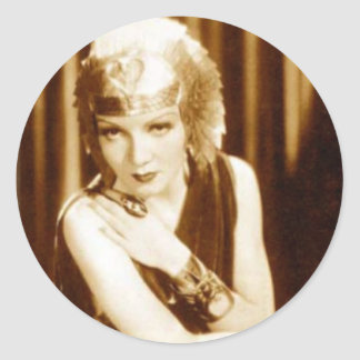 Greetings from Old Hollywood: Claudette Colbert Classic Round Sticker
