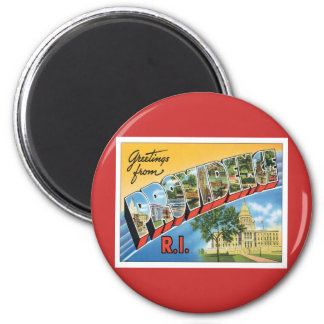 Greetings From Providence,Rhode Island 6 Cm Round Magnet