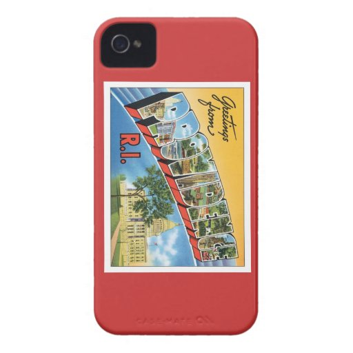 Greetings From Providence,Rhode Island Case-Mate iPhone 4 Cases