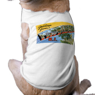 Greetings from Providence Rhode Island Dog Tshirt