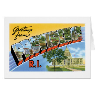 Greetings from Providence, Rhode Island! Greeting Card