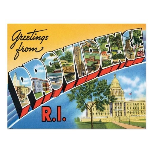 Greetings From Providence,Rhode Island Post Cards
