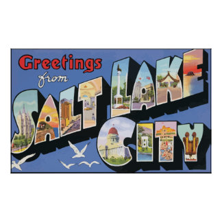 Greetings From Salt Lake City, Vintage Poster