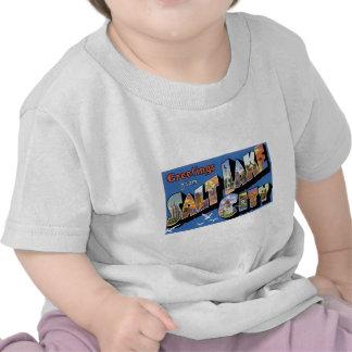 Greetings from Salt Lake City Vintage Retro T Shirts