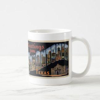 Greetings from San Antonio Postcard Coffee Mug