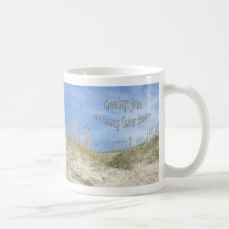 Greetings From Sunny OBX Sea Oats Items Basic White Mug