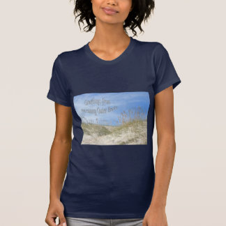 Greetings From Sunny OBX Sea Oats Items Tee Shirts
