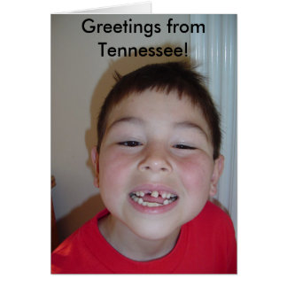 Greetings from Tennessee! Greeting Card