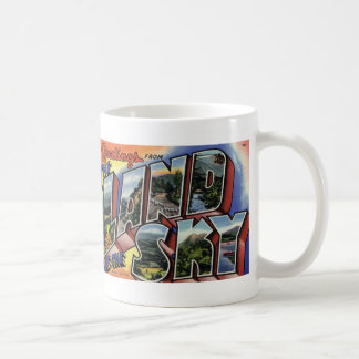 Greetings from the Land of the Sky Postcard Mug