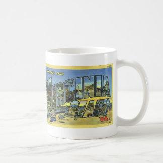 Greetings from Virginia Beach Vintage Postcard Mug