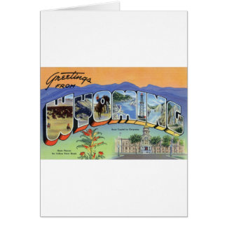 Greetings From Wyoming Card