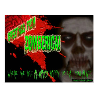 Greetings from Zomberica postcard