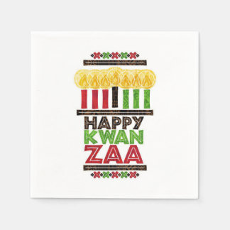 Greetings Of Kwanzaa Kwanzaa Party Paper Napkins
