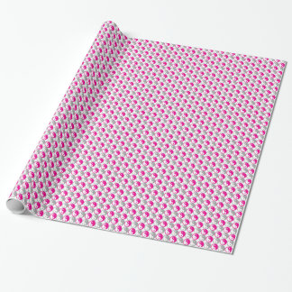 Grey and pink yin yang pattern wrapping paper