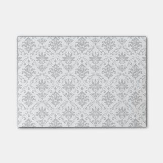 Grey and White Damask Post-it® Notes