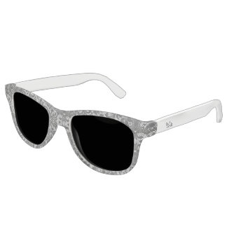 grey and white lace style sunglasses