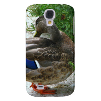 Grey Bird with Blue on Feather and Orange Feet Galaxy S4 Cover