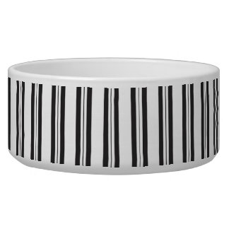 Grey, Black and White Stripes Dog Pet Bowl