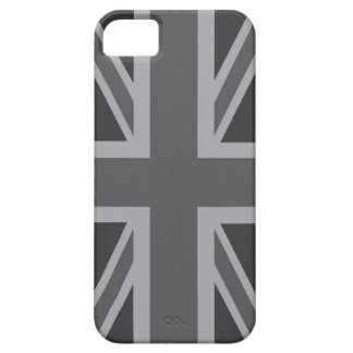 Grey Black Classic Union Jack British UK Flag iPhone 5 Case