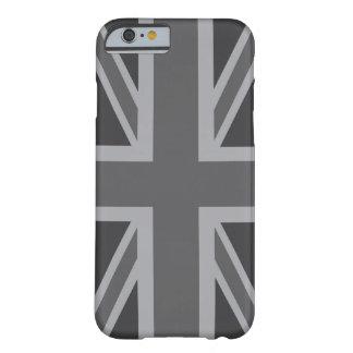 Grey Black Classic Union Jack British UK Flag iPhone 6 Case