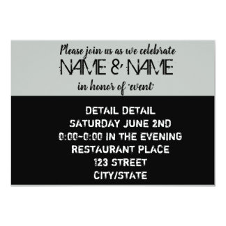 Grey & Black Edgy Invitation