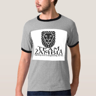 Grey/Black TEAM Zambia T-Shirt