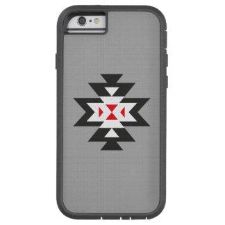 Grey Black White Red Aztec Navajo Pattern Tough Xtreme iPhone 6 Case